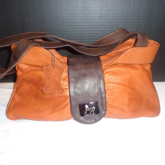 Naty Handbags - Naty Leather Handbag Purse Made in Italy